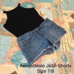 Aeropostale Floral Jean Shorts Size 7/8